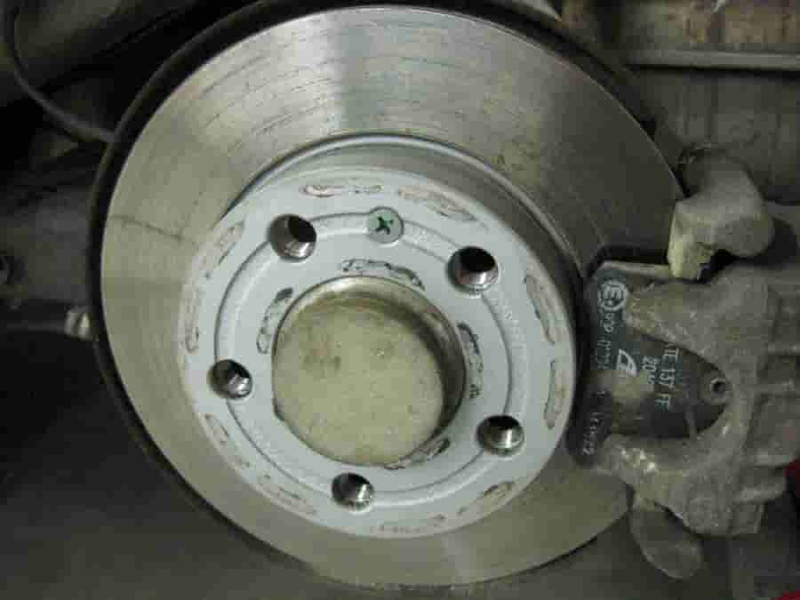 Disc brakes with quality pads and rotors showing how well they last,